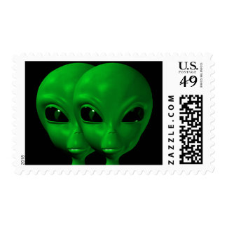Alien We are here believe 1med Postage Stamps