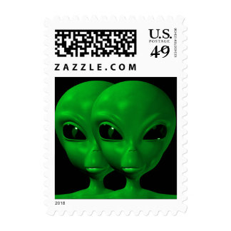 Alien We are here believe 1sm Stamp