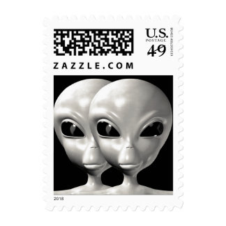 Alien We are here believe 2sm Stamps