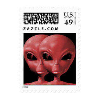 Alien We are here believe 3sm Stamp
