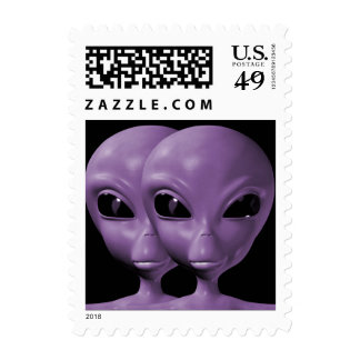 Alien We are here believe 4sm Postage