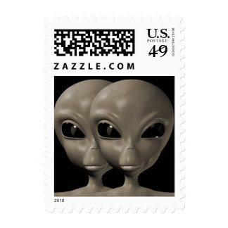 Alien We are here believe 6sm Postage Stamps