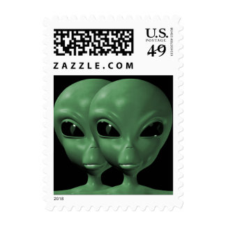 Alien We are here believe 7sm Postage