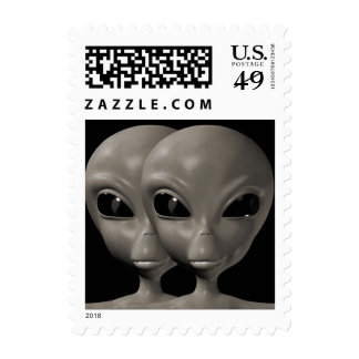 Alien We are here believe 9sm Postage Stamps