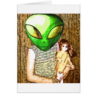 alien with doll cards