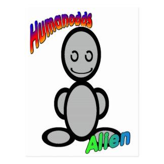Alien (with logos) postcard