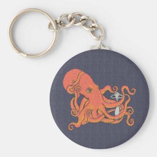 Alien with Octopus Friend Key Chain