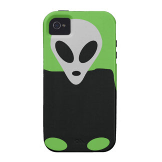 alien with ufo icon iPhone 4/4S cases