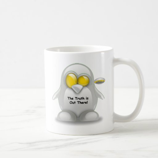 Alien with UFO Tux Classic White Coffee Mug