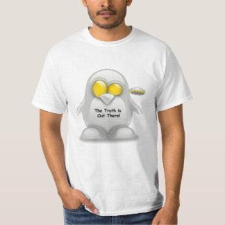 Alien with UFO Tux T-Shirt