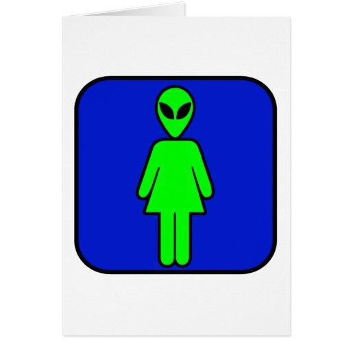 Alien Woman Card