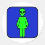 Alien Woman Stickers
