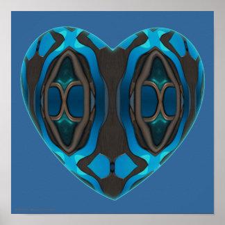 Alien Wood Heart Poster