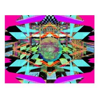 Alien World Kaleidoscope Colorful Art CricketDiane Postcard
