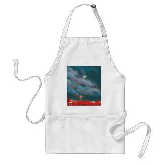 Alien world landscape adult apron