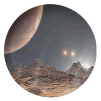 Alien World Melamine Plate