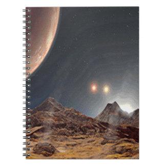 Alien World Spiral Note Books