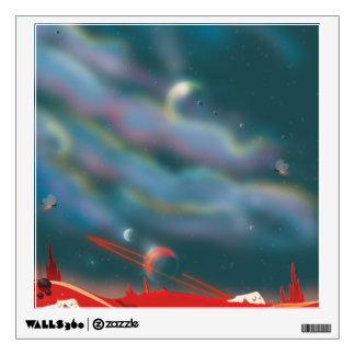 Alien world wall decal