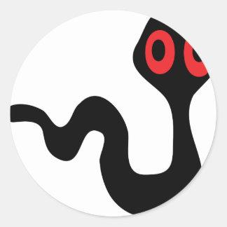 alien worm classic round sticker