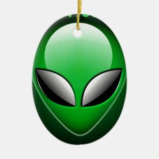 Alien_Wwad Adorno Navideño Ovalado De Cerámica