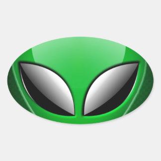 Alien_Wwad Oval Sticker
