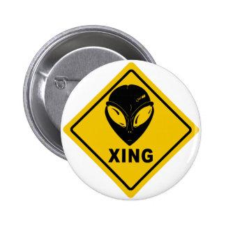 Alien X-ING Pinback Button