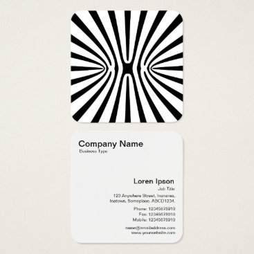 Professional Business Alien Xebra Square Business Card