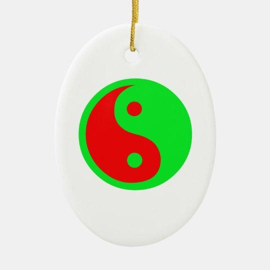 Alien Yin-Yang Ceramic Ornament