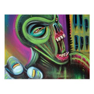 Alien Zombie Postcard