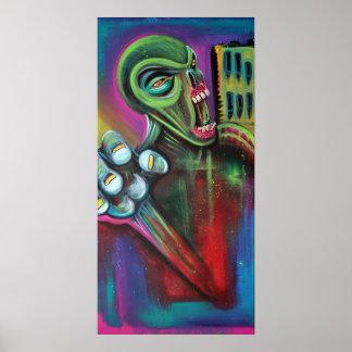 Alien Zombie Poster