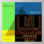 AlienCelt Pyramid Design Poster