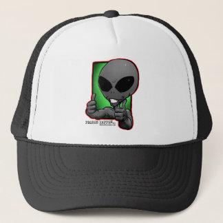 aliengray-smiley-thumbsup-hat trucker hat