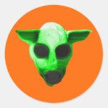 alienmonster pegatina redonda