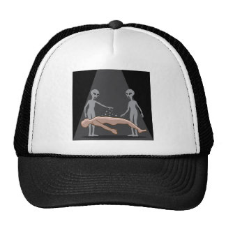 Aliens Abduct human Trucker Hat