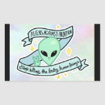 Aliens Against Abortion sticker