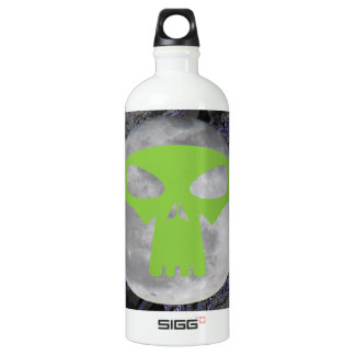 Aliens and moons aluminum water bottle