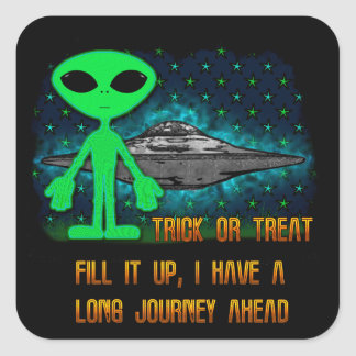 Aliens and UFOs Square Sticker