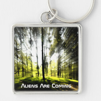 Aliens are coming keychain