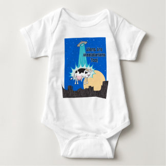 Aliens Are Meatatarians Too Baby Bodysuit