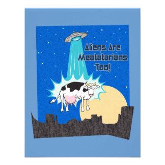 Aliens Are Meatatarians Too Custom Invitations
