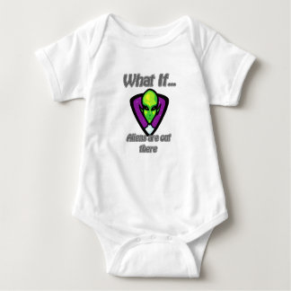 Aliens are out there baby bodysuit