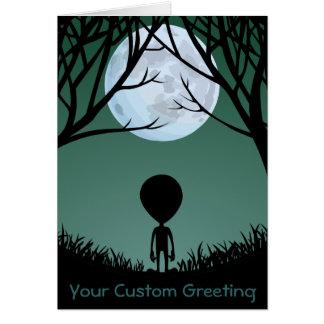 Aliens Art Cards Invitations Custom Halloween Card