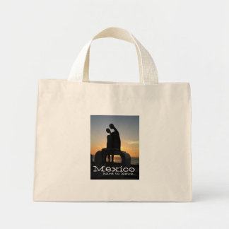 Aliens at Sunset; Mexico Souvenir Mini Tote Bag