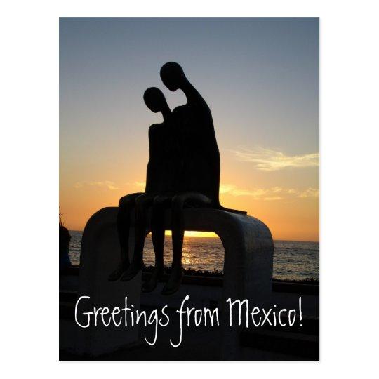 Aliens at Sunset; Mexico Souvenir Postcard