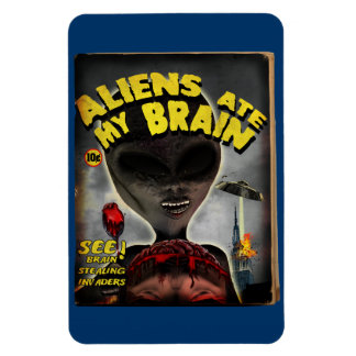 Aliens Ate My Brain Pulp Cover Style Flexi Magnet