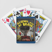 Aliens Ate My Brain Pulp Cover Style Playing Cards