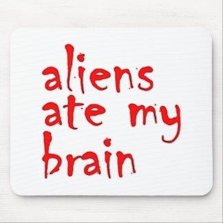 Aliens ate my brain tapetes de ratón