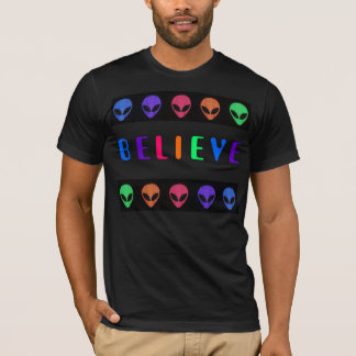 ALIENS BELIEVE - Multicolor Shirt