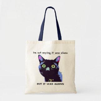 Aliens!! Black Cat Club Tote Bag