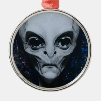 aliens by lj-you call metal ornament